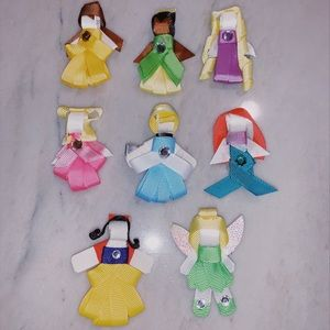 8 Disney Princess Hair Clips